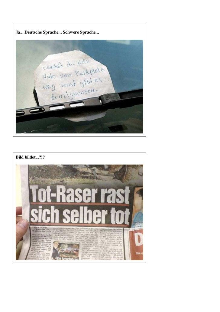 Ja... Deutsche Sprache... Schwere Sprache...Bild bildet...?!?