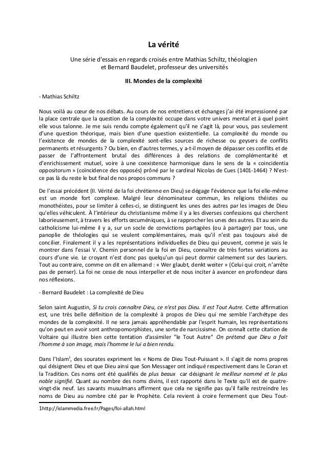 Schiltz baudelet iii mondes de la complexité 13 04 2013
