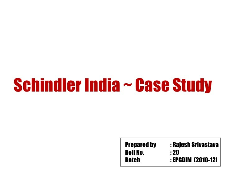 porters five forces silvio napoli at schindler india