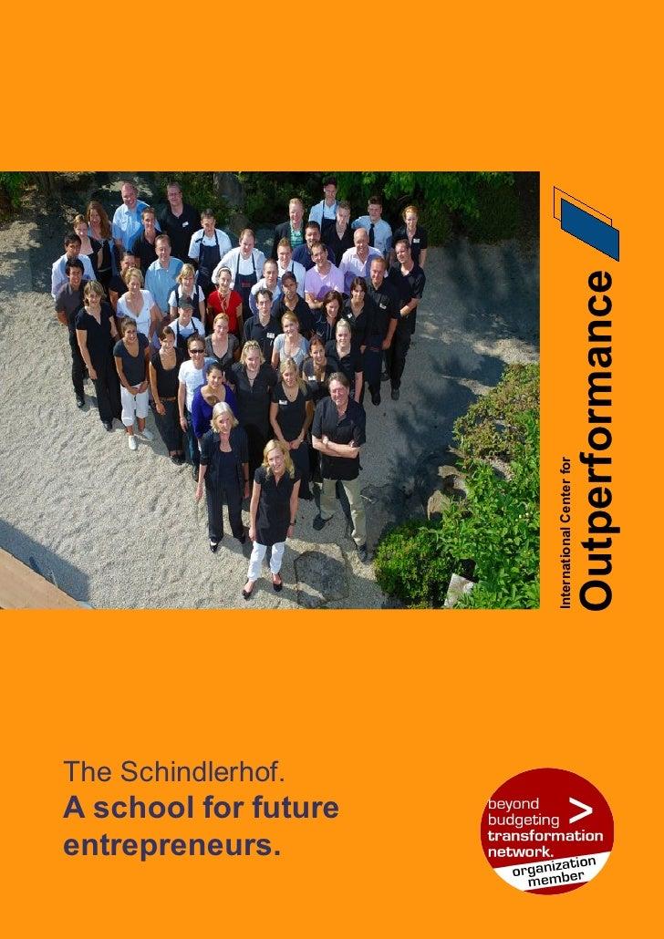 Beyond Budgeting Case Study Schindlerhof