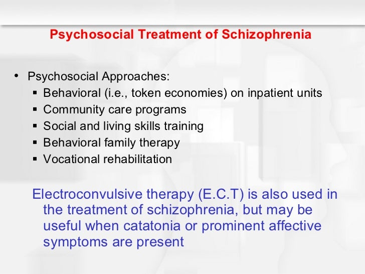 psychosocial rehabilitation for schizophrenia essay Psychosocial rehabilitation for schizophrenia psychosocial rehabilitation is a learning based approach using a token economy and social skill training to help patients with schizophrenia develop adaptive behaviors (nevid, rathus, & green, 2003.