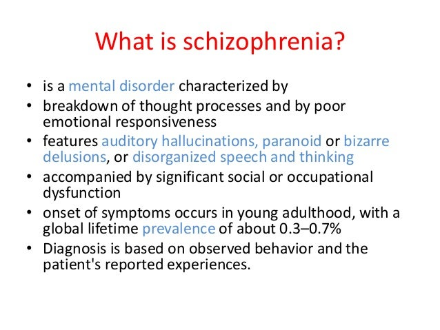 what is a delusion in schizophrenia