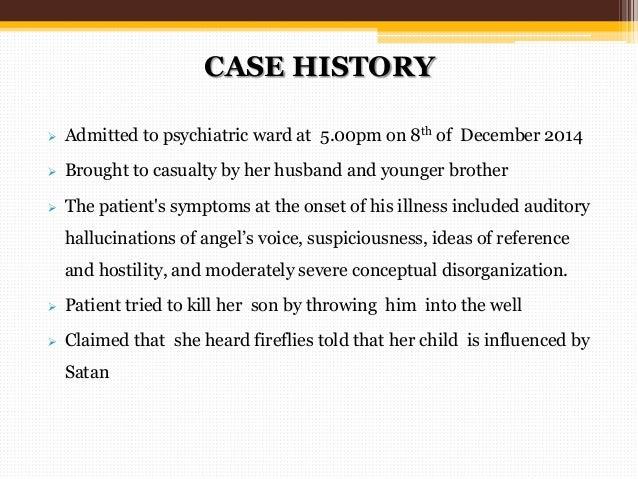 psychiatric patient case studies