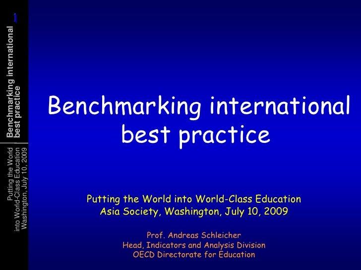 1       1 Benchmarking international best practice                                    Benchmarking international          ...