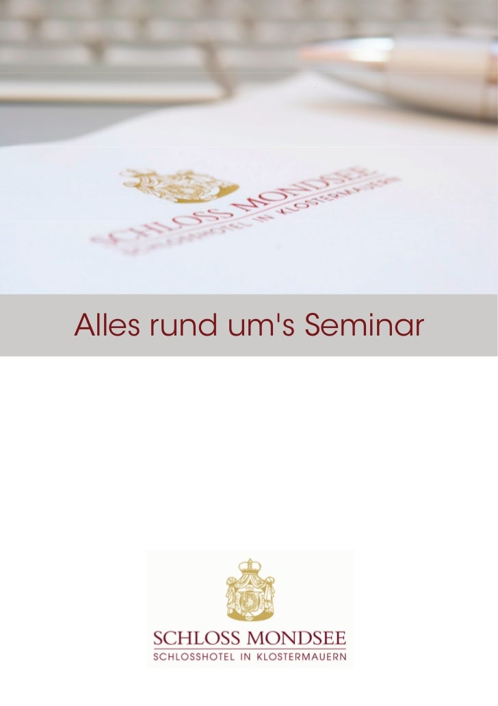 Seminarmappe Schloss Mondsee