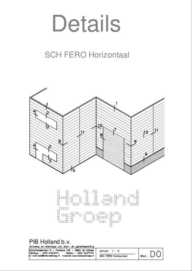 Details SCH FERO-systeem horizontaal gemonteerd