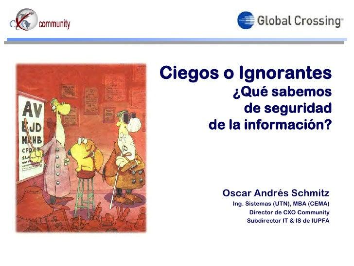 Tendencias en IT y SI, por Oscar Schmitz