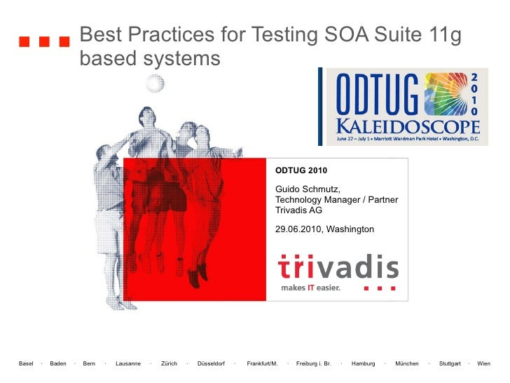Best Practices for Testing SOA Suite 11g based systems ODTUG 2010 Guido Schmutz, Technology Manager / Partner Trivadis AG ...