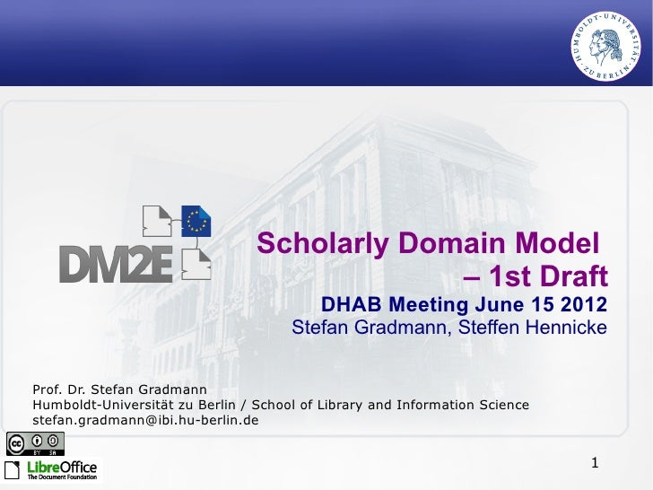 Scholarly Domain Model by Stefan Gradmann