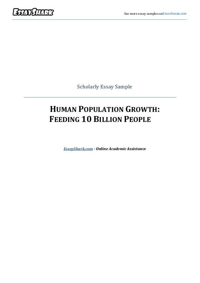 v                                     See more essay samples onESSAYSHARK.COM              Scholarly Essay Sample    HUMAN...
