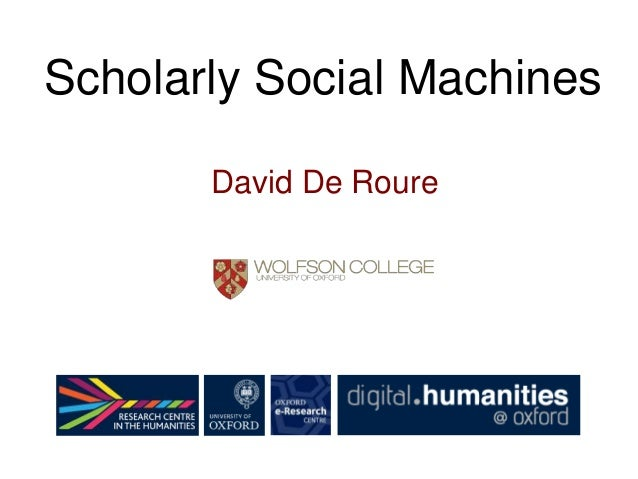 Scholarly Social Machines