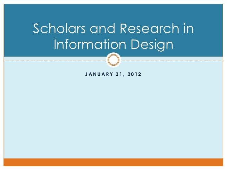 Research & Scholars in Information Design