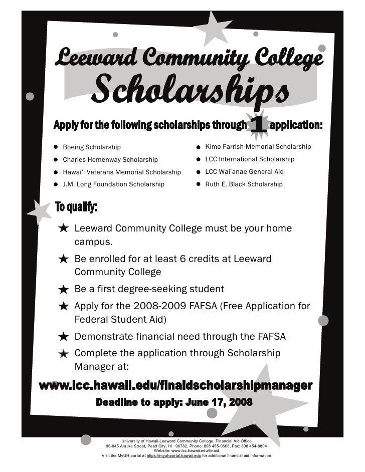 Scholarship Manager Flyer Spring 2008 (2)