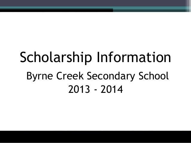 Scholarship Information Powerpoint 2013-2014