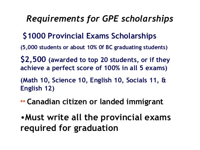Scholarship information?