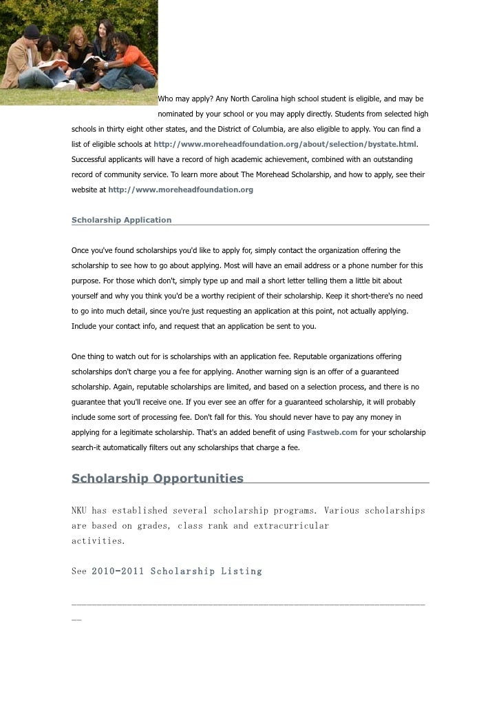 Undergraduate scholarship application essay