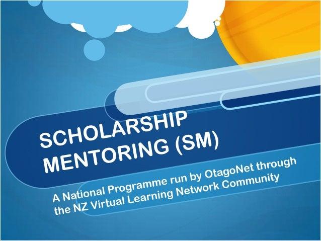 Scholarship mentoring presentation[1]