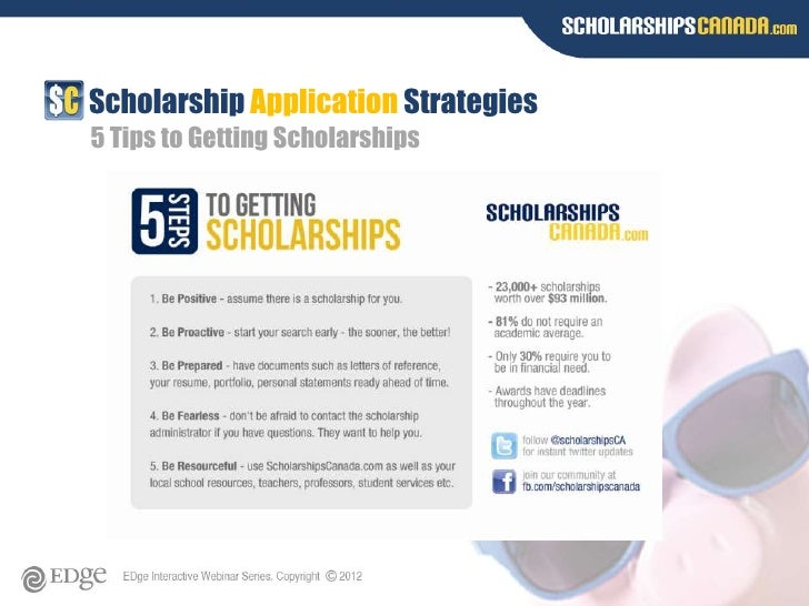 Tips on getting a scholarship?