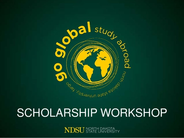 Scholarship Workshop (fall 2013)