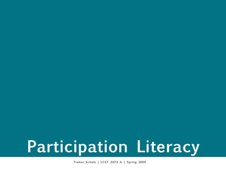 Participation Literacy