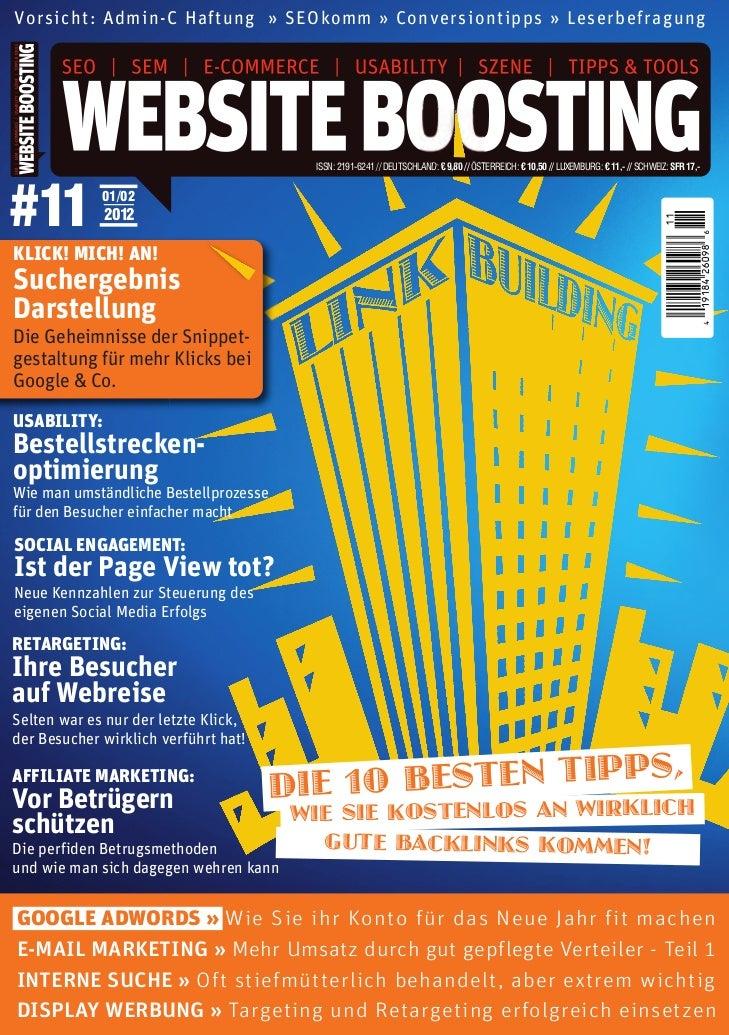 001_WebsiteBoosting_Titel Ausgabe 11_wsb_titel 11.12.11 14:41 Seite 1          11                                         ...