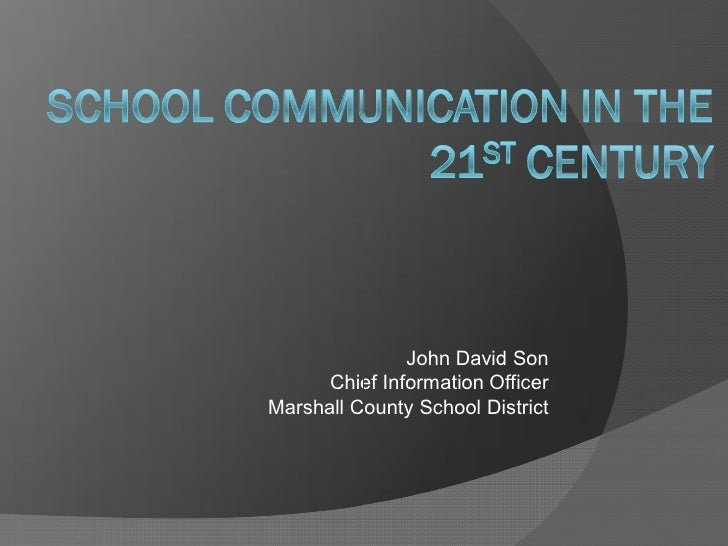 School Communication in the 21st Century