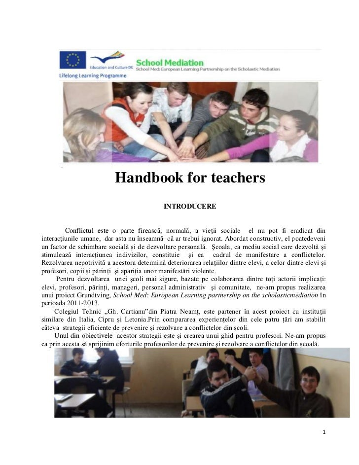 School med handbook for teachers