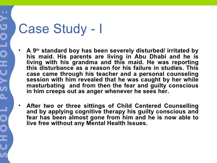 adolescent case study Problem: the sparse research evidence base for adolescents with health  anxiety proposes a challenge in the treatment of such mental health difficulties.