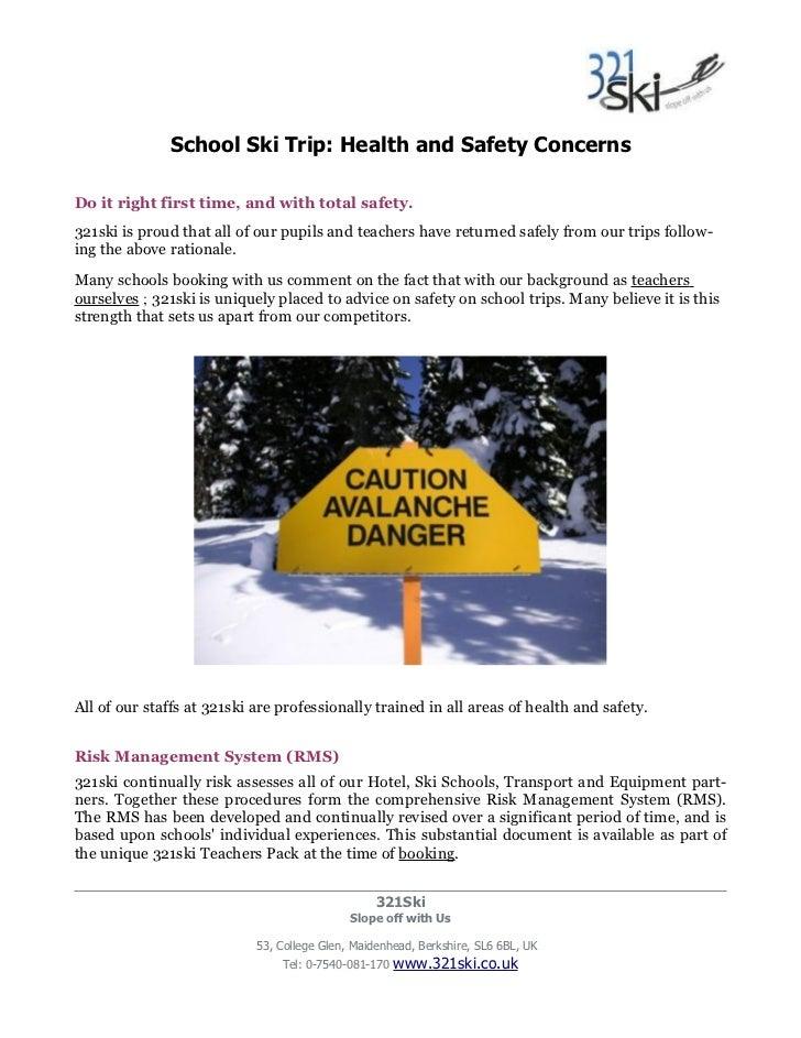 Abercorn School Ski Trip Letter