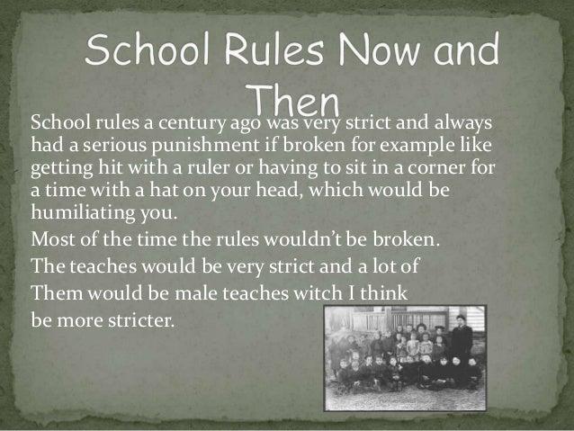 School 100 years ago expo