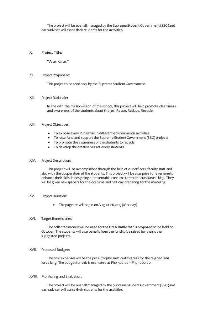 student council essays