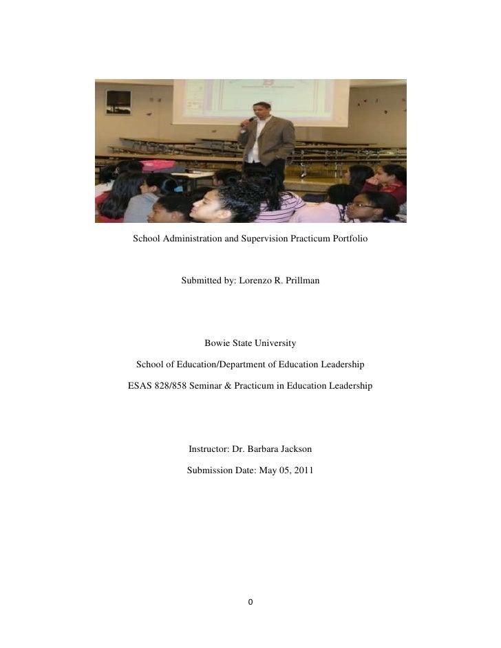 School administration practicum_portfolio2_-_fall_2010_-_spring_2011 (1)