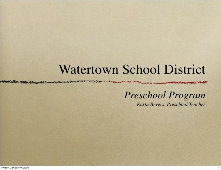 Preschool Schoolboard Presentation
