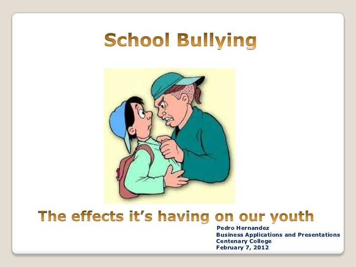 School bullying presentation