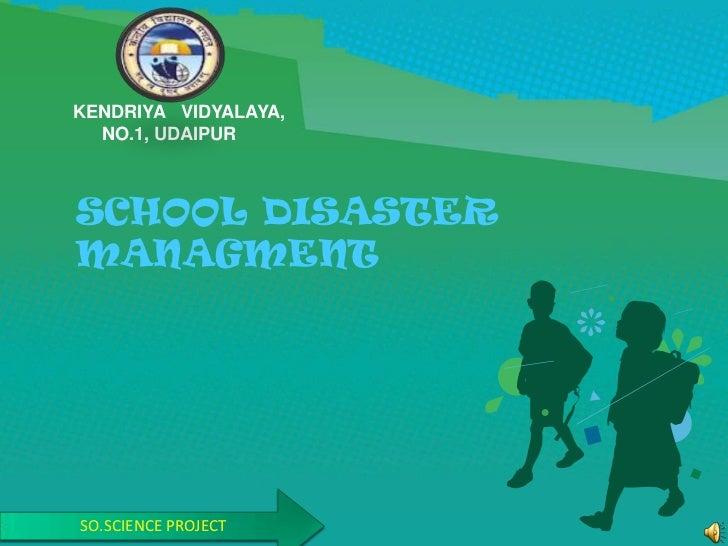 School disaster managment