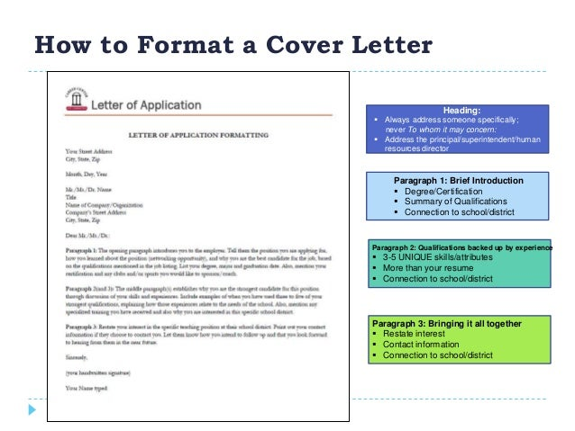 School district correspondence for To whom do i address a cover letter