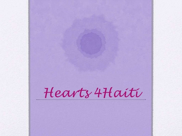 Hearts 4 Haiti school presentation
