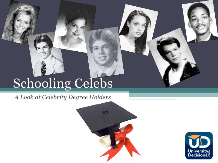 Schooling Celebs A Look at Celebrity Degree Holders