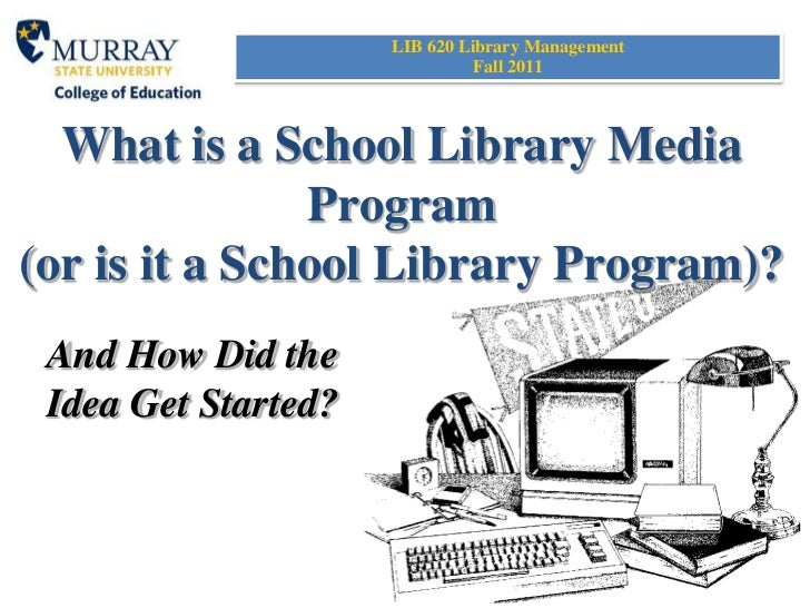 What is a school library program?