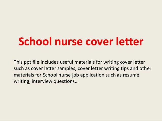 nursing application cover letter