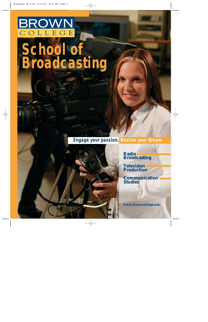 School of Broadcasting           Engage your passion. Realize your dream.                               Radio             ...