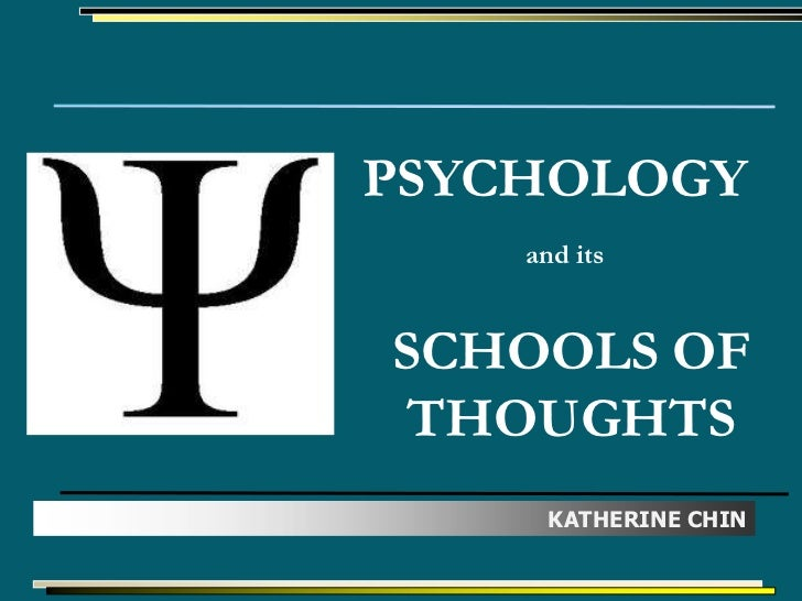 PSYCHOLOGY    and itsSCHOOLS OF THOUGHTS      KATHERINE CHIN