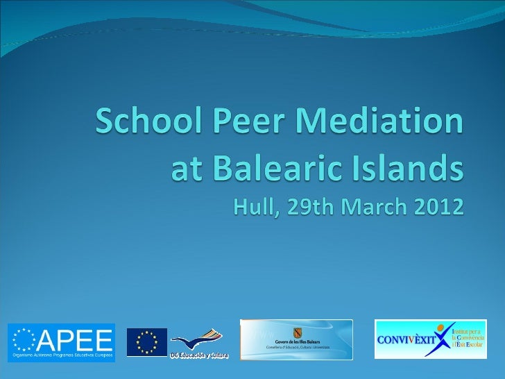 School peer mediation
