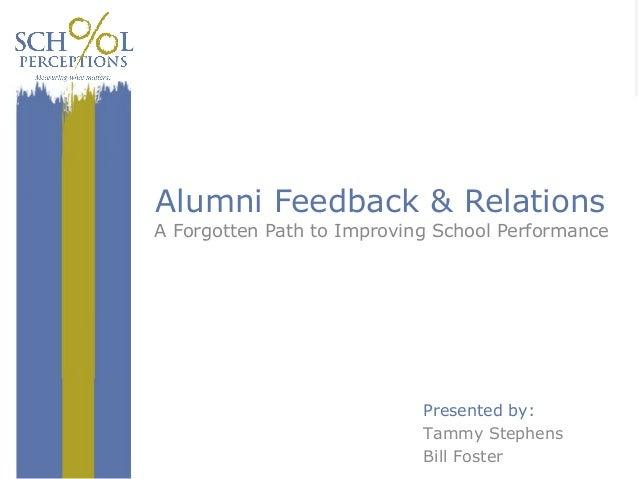 School Perceptions Alumni  Forever