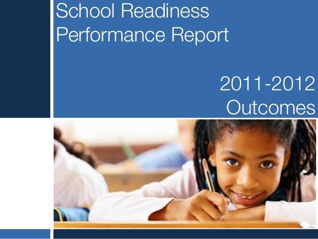 School readiness performance report 11 12 copy