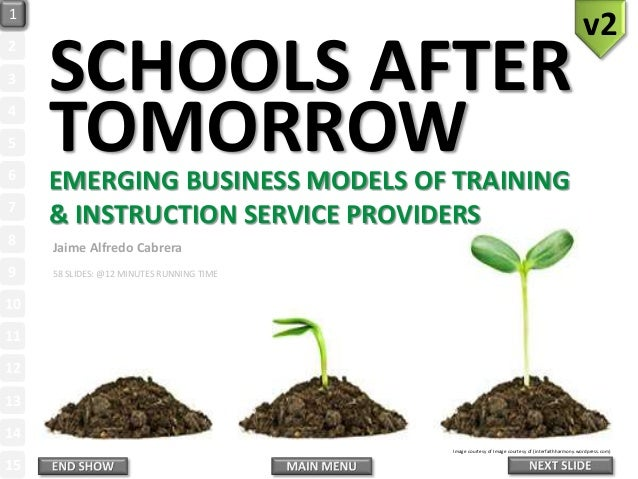 SCHOOLS AFTER TOMORROWEMERGING BUSINESS MODELS OF TRAINING & INSTRUCTION SERVICE PROVIDERS Image courtesy of Image courtes...