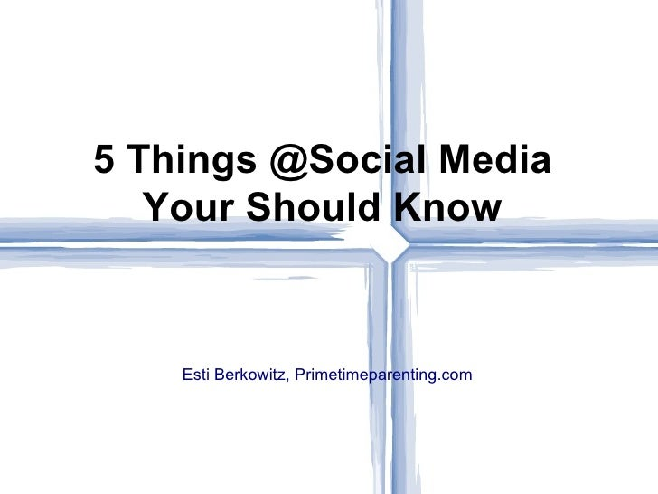 Schools And Social Media Presentation