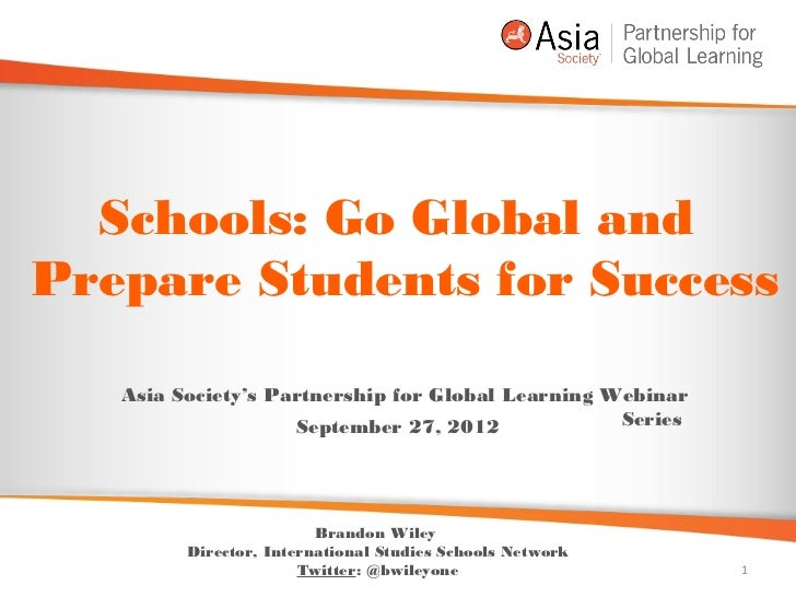 Schools: Go Global and Prepare Students for Success