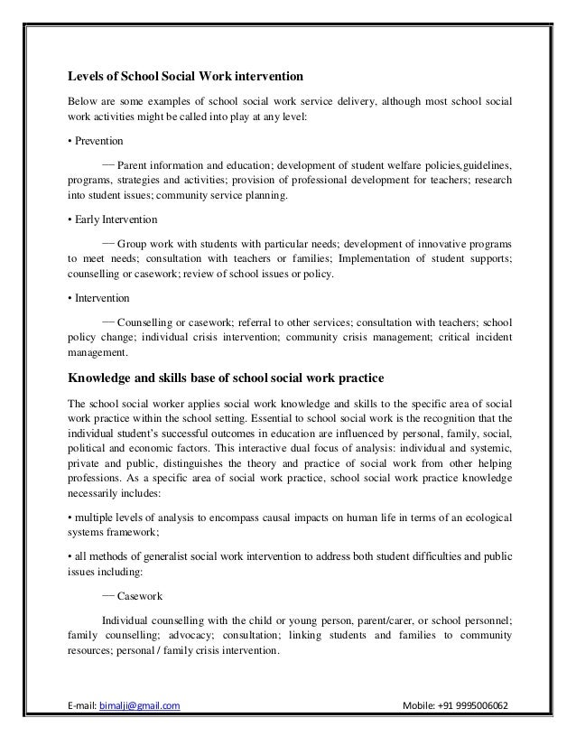 social work intervention essay Both task-centred and crisis intervention approaches are popular and widely used methods of social work practice although these two approaches have different origins they have some common features.