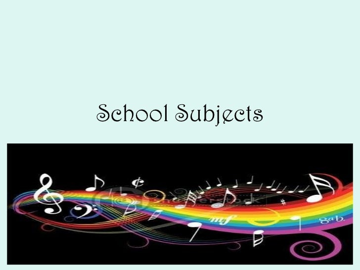 School subjects